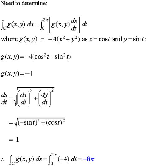 Line Integral of a Scalar Field
