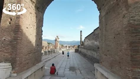 The ruins of ancient Pompeii, ITALY, 360 video - YouTube