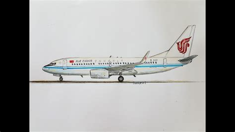 SPEED DRAWING, AIR CHINA,BOEING 737-700 - YouTube