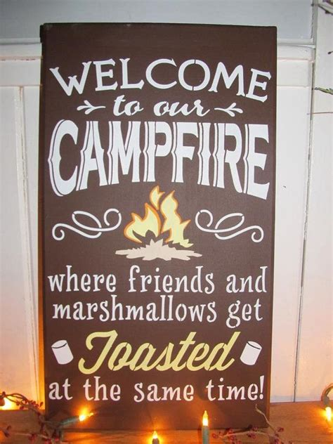 Welcome to our campfire wooden sign by DandLSigns1 on Etsy