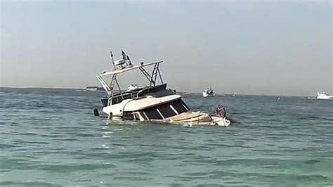 Tourists and crew rescued after yacht sinks off Dubai
