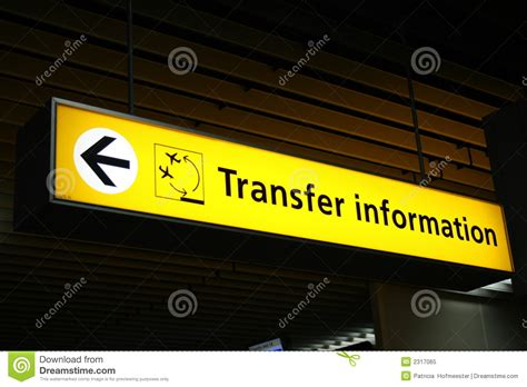 Airport Transfer sign stock image
