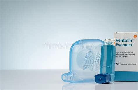Asthma - plastic spacer stock image