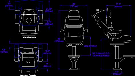 Adjustable office chair in AutoCAD | CAD download (24
