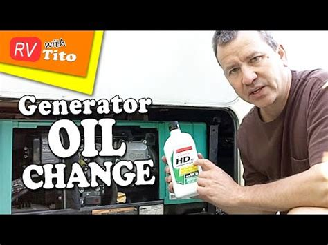 How To Change The Oil In Your Onan RV Generator - YouTube
