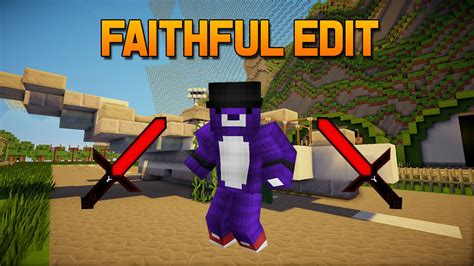 Minecraft PvP resource pack | Faithful edit | low fire | 1