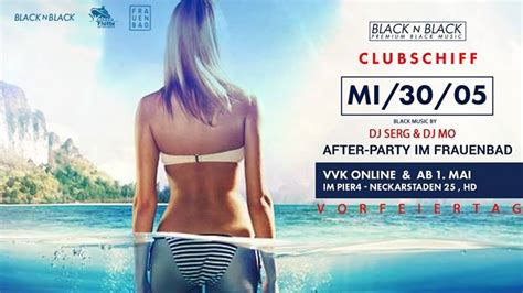 Party - BLACK N BLACK   Clubschiff + Afterparty Frauenbad