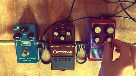 Bass Octave Pedal Comparison - YouTube