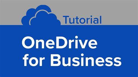 OneDrive for Business Tutorial - YouTube