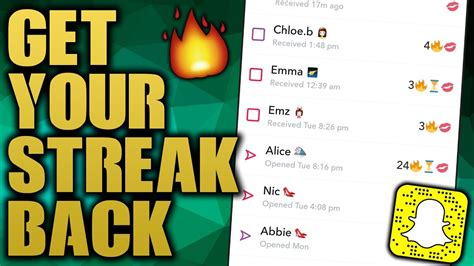 How To GET BACK A Snapchat Streak You Lost! - YouTube