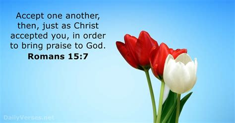 Romans 15:7 - Bible verse of the day - DailyVerses
