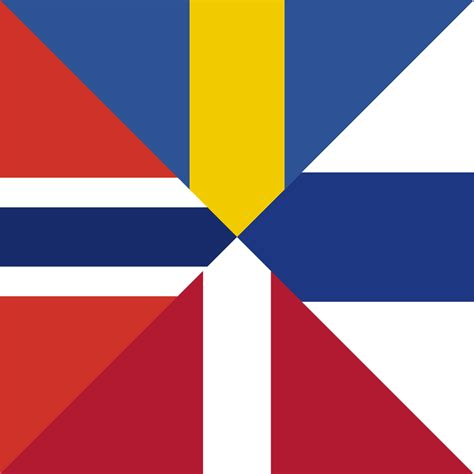 Comparison of the nordic flag's cross proportions and