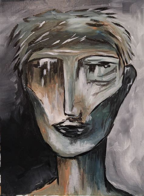 Abstract Face Step by Step Acrylic Painting on Canvas for