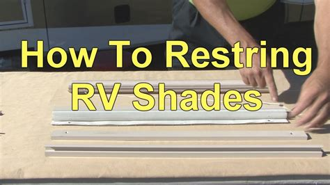 How to Restring RV Day / Night Pleated Shades - YouTube