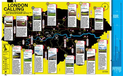 A Map of London's Football Grounds From the Premiership to