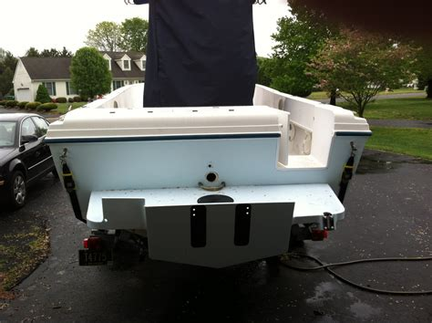 Bluewater 2350 without armstrong bracket on it - The Hull
