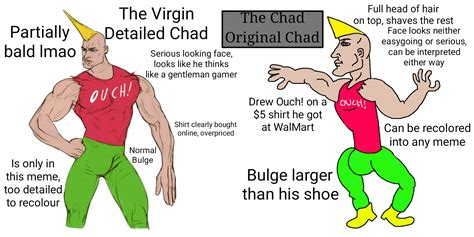 The Virgin Detailed Chad vs The Chad Original Chad