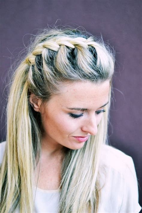 DIY Half Up Side French Braid Hairstyle – Simple-to-Follow